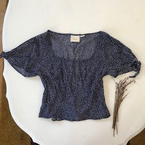 Anthropologie Maeve Crop Blouse